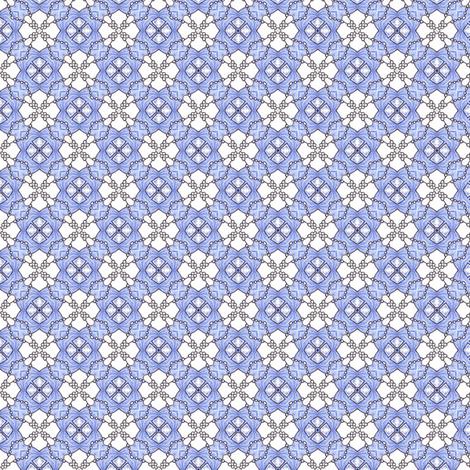Delftflower Pearls fabric by siya on Spoonflower - custom fabric