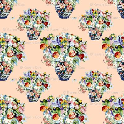 Elizabeth Wu's Flowers on Creamsicle