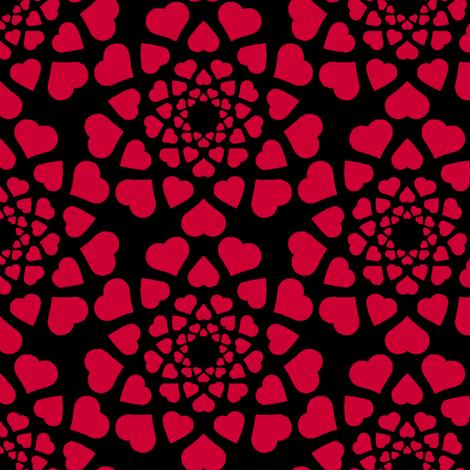 00951990 : love is all around (dark) fabric by sef on Spoonflower - custom fabric