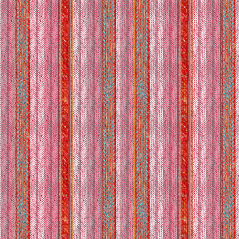 Sweetheart Herringbone Stripe fabric by joanmclemore on Spoonflower - custom fabric