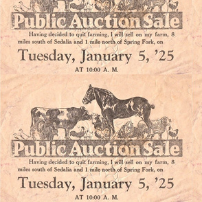 1925 Missouri Farm Auction