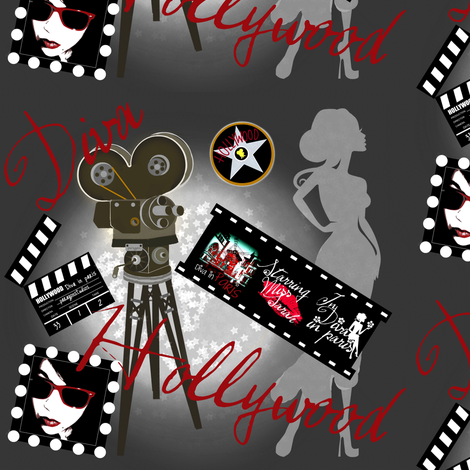 A life of a hollywood Diva fabric by paragonstudios on Spoonflower - custom fabric