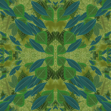 leaves - green & blue fabric by krs_expressions on Spoonflower - custom fabric