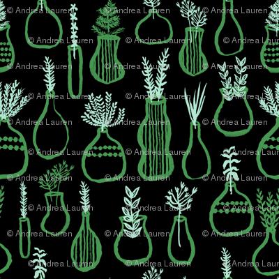 Herb Garden - // green and mint herbs kitchen garden cute plants pots