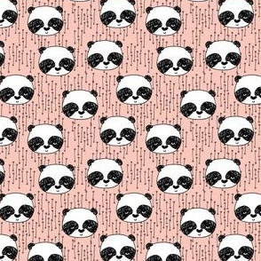 panda // pink mini panda heads cute illustration for girls baby nursery sweet panda illustration by andrea lauren