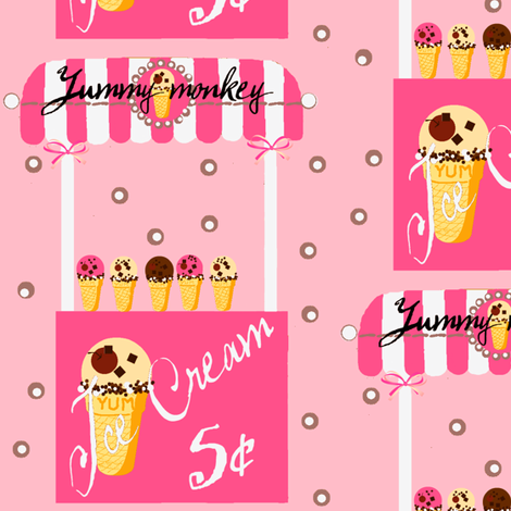 Yummy cart fabric by paragonstudios on Spoonflower - custom fabric