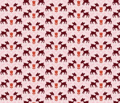 Street Deer fabric by nerida_jeannie on Spoonflower - custom fabric