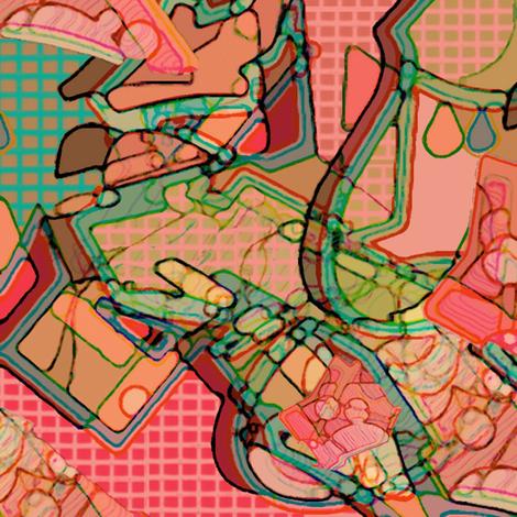 graffiti fabric by kristinailiev on Spoonflower - custom fabric