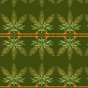 Wheat Spray - green-ch