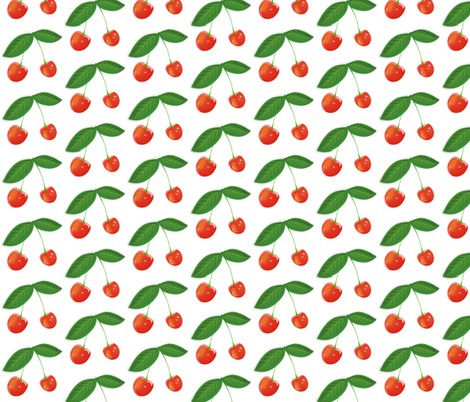 CHERRY JUBILEE fabric by bluevelvet on Spoonflower - custom fabric