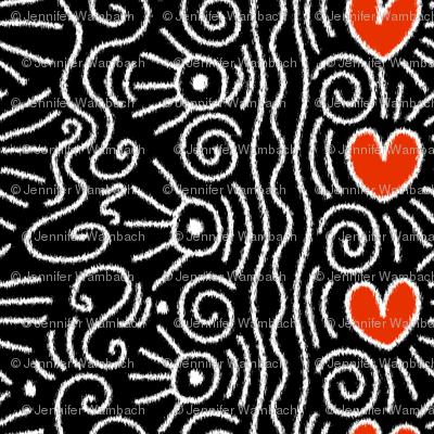 Homage to Haring (ikat)