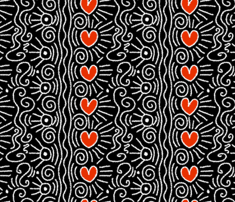 Homage to Haring (ikat) fabric by jennartdesigns on Spoonflower - custom fabric
