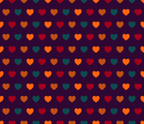 Heart Confetti {2} fabric by illustrative_images on Spoonflower - custom fabric