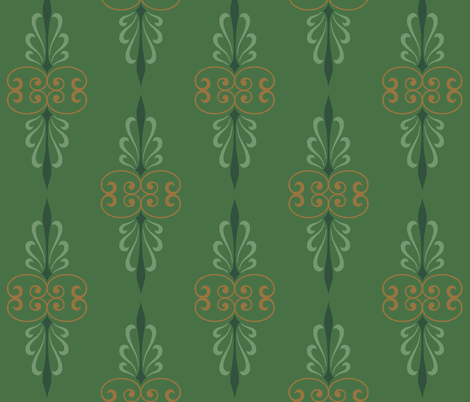 green_art_deco fabric by wiccked on Spoonflower - custom fabric