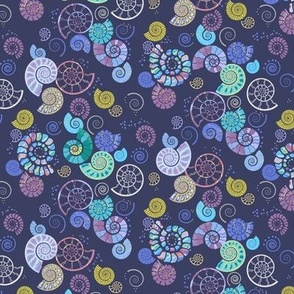 mineralised mesozoic mariners: an ammonite ditsy print