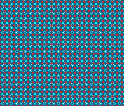 red blue dots fabric by katarina on Spoonflower - custom fabric