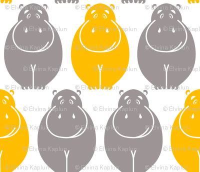 Holli Yellow Hippos