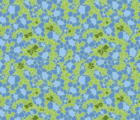 comb mosaic, blue fabric by spugnardidesign on Spoonflower - custom fabric