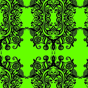 Teresa Good Energy Art Green Damask