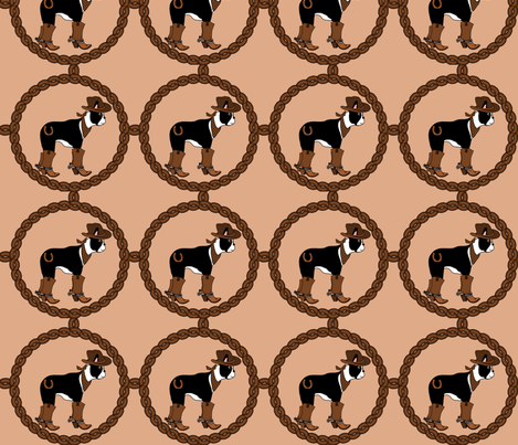 Country Boston Boy fabric by missyq on Spoonflower - custom fabric