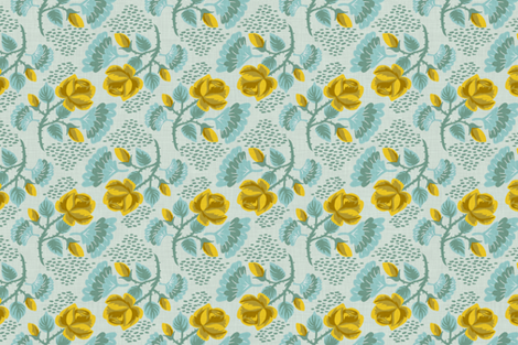 Yellow Rose fabric by needlebook on Spoonflower - custom fabric