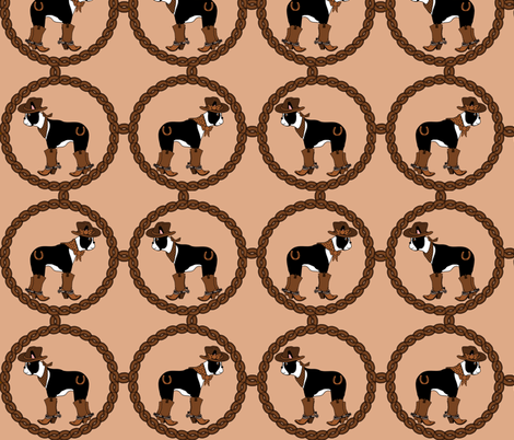 Howdy Boston Terriers fabric by missyq on Spoonflower - custom fabric