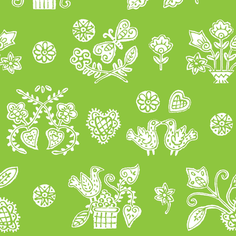 Green Lolly fabric by yellowstudio on Spoonflower - custom fabric