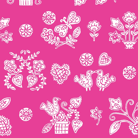 Rose Lolly fabric by yellowstudio on Spoonflower - custom fabric