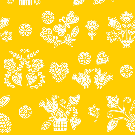 Yellow Lolly fabric by yellowstudio on Spoonflower - custom fabric