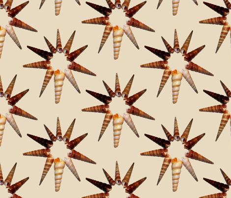 Star  Shells fabric by farrellart on Spoonflower - custom fabric