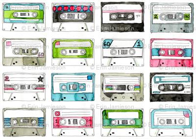 MINI Colourful Cassette Tapes