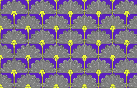 Thinking of Poirot   ©2012-SEEWolcott fabric by fireflower on Spoonflower - custom fabric