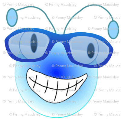 BUGEYE BEE WEARS GLASSES