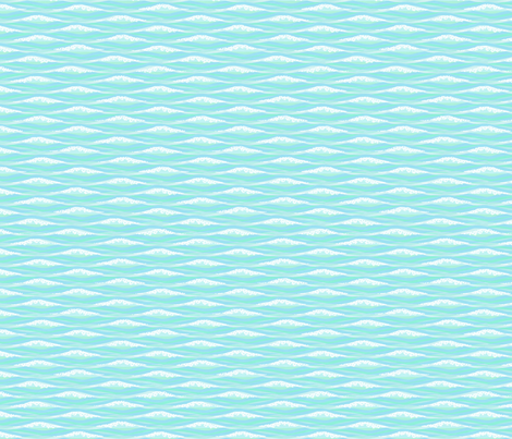 crashing waves fabric by glimmericks on Spoonflower - custom fabric