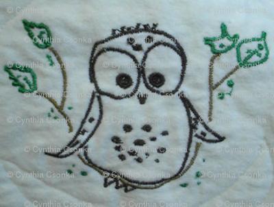 Thread Art Checky Owl