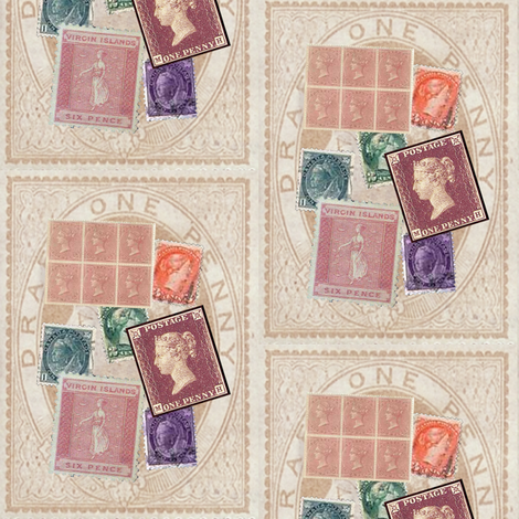 victorian stamps fabric by krs_expressions on Spoonflower - custom fabric