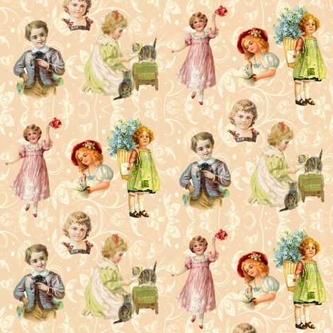 victorian children fabric by krs_expressions on Spoonflower - custom fabric