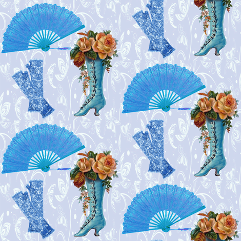 victorian blue fabric by krs_expressions on Spoonflower - custom fabric