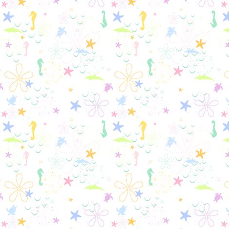 Rainbow Pastel - Seaside Play -  © PinkSodaPop 4ComputerHeaven.com fabric by pinksodapop on Spoonflower - custom fabric