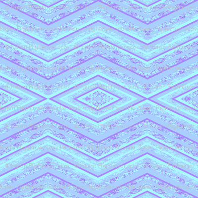 light blue zig zag