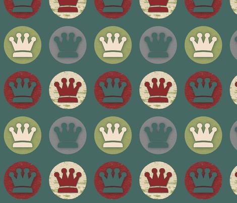 Grunge Crowns fabric by laurencolunga on Spoonflower - custom fabric