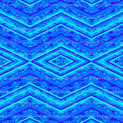 sea blue zig zag