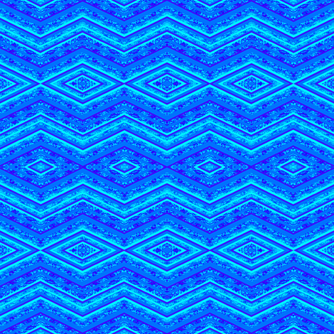 sea blue zig zag fabric by krs_expressions on Spoonflower - custom fabric