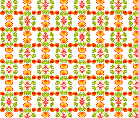 Spring Flower Design fabric by ninjaauntsdesigns on Spoonflower - custom fabric
