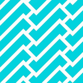 fretwork in turquoise