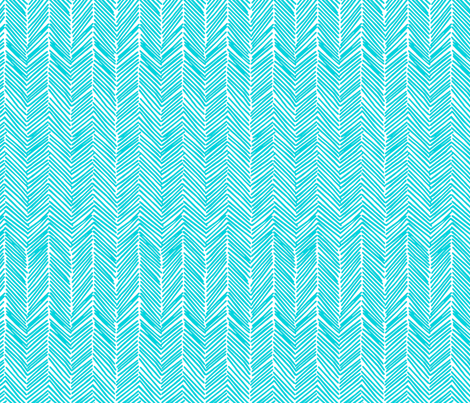 freeform  arrows in turquoise fabric by domesticate on Spoonflower - custom fabric