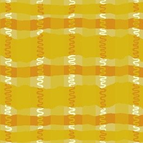Squiggle Plaid- Warm Colorway