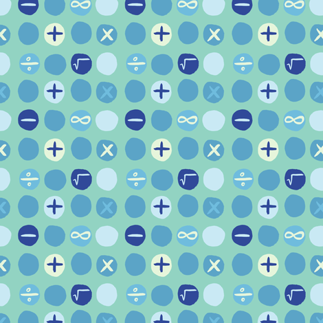 colorful-plus_minus-cool_ fabric by gsonge on Spoonflower - custom fabric
