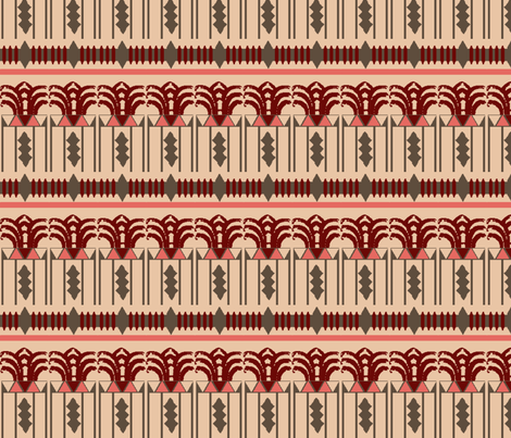 Art Deco Pattern fabric by upcyclepatch on Spoonflower - custom fabric