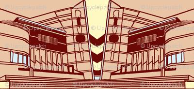 Rivoli Art Deco Stripe with Yellow